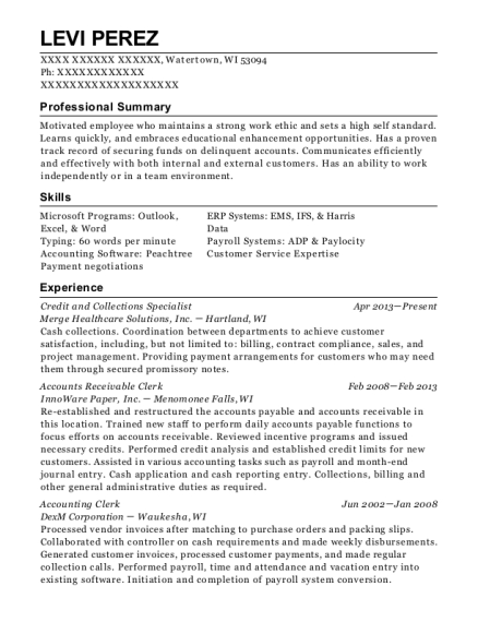 Best Credit And Collections Specialist Resumes | ResumeHelp