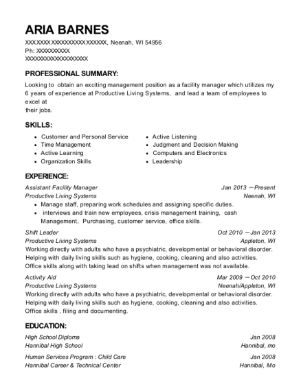 Best Assistant Facilities Manager Resumes Resumehelp - Facilities-manager-resume