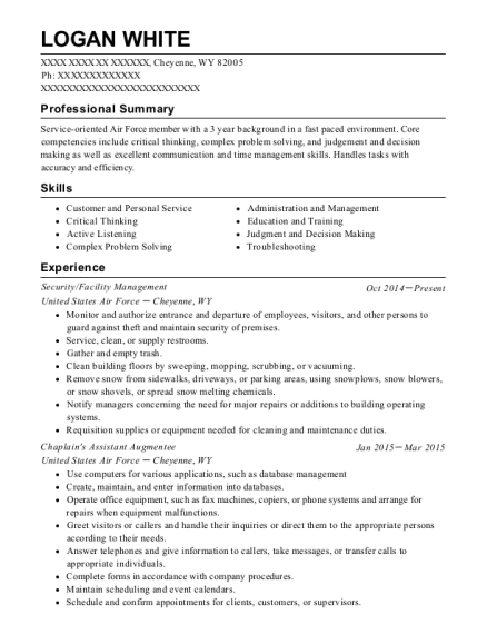Logan White  Stock Clerk Resume